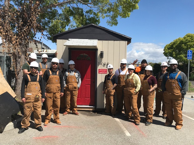 JobTrain Donates Project Build House for the Entrance to East Palo Alto's RV Safe Parking Pilot Program